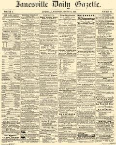 Janesville Daily Gazette, August 17, 1854, Page 1
