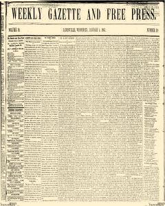 Weekly Gazette And Free Press, January 04, 1861, Page 1