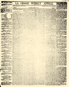 La Crosse Weekly Appeal, March 13, 1861, Page 1