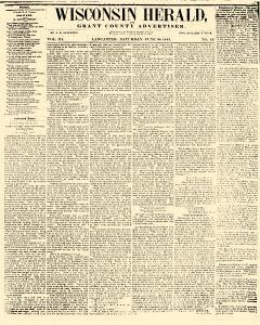 Wisconsin Herald And Grant County Advertiser, June 28, 1845, Page 1