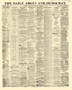 Madison Daily Argus And Democrat, February 12, 1857, Page 1