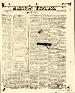 Madison Express, August 15, 1840, Page 1