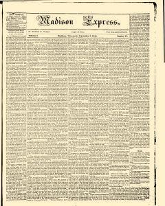 Madison Express, September 05, 1844, Page 1