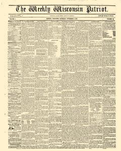 Madison Weekly Wisconsin Patriot, November 08, 1856, Page 1