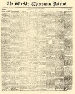 Madison Weekly Wisconsin Patriot, July 24, 1858, Page 1