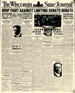 Madison Wisconsin State Journal, March 08, 1917, Page 1
