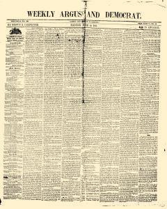 Weekly Argus And Democrat, June 29, 1852, Page 1