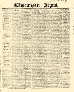 Wisconsin Argus, October 10, 1848, Page 1