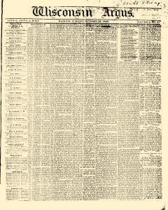 Wisconsin Argus, October 31, 1848, Page 1