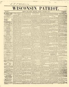 Wisconsin Patriot, November 03, 1855, Page 1