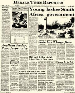 Herald Times Reporter, April 29, 1977, Page 1