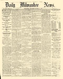 Daily Milwaukee News, October 16, 1867, Page 1