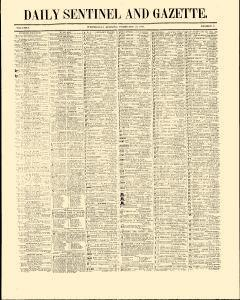 Daily Sentinel And Gazette, February 18, 1846, Page 1