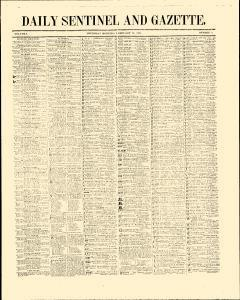 Daily Sentinel And Gazette, February 19, 1846, Page 1