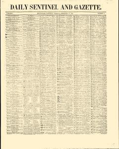 Daily Sentinel And Gazette, February 21, 1846, Page 1