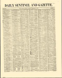 Daily Sentinel And Gazette, February 28, 1846, Page 1