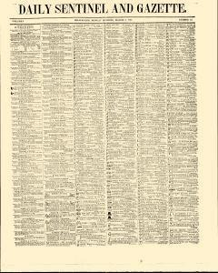 Daily Sentinel And Gazette, March 02, 1846, Page 1