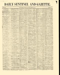 Daily Sentinel And Gazette, March 03, 1846, Page 1