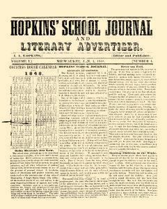 Hopkins School Journal And Literary Advertiser