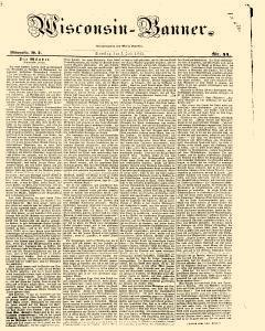 Wisconsin Banner, July 05, 1845, Page 1