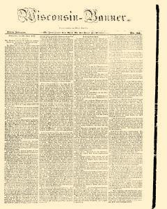 Wisconsin Banner, April 10, 1847, Page 1