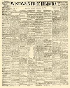 Wisconsin Free Democrat, July 09, 1851, Page 1