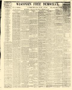 Wisconsin Free Democrat, February 21, 1855, Page 1
