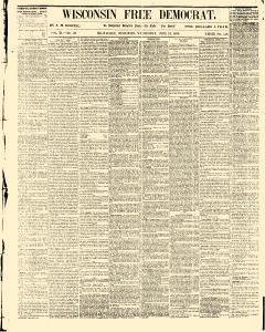 Wisconsin Free Democrat, June 13, 1855, Page 1