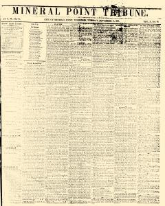 Mineral Point Tribune, November 17, 1857, Page 1