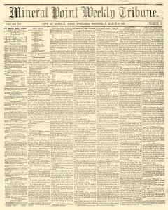 Mineral Point Weekly Tribune, March 12, 1862, Page 1