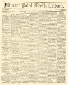 Mineral Point Weekly Tribune, August 20, 1862, Page 1