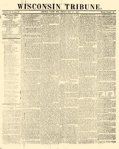 Wisconsin Tribune, December 15, 1848, Page 1