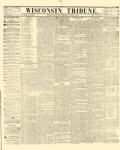 Wisconsin Tribune, August 05, 1852, Page 1