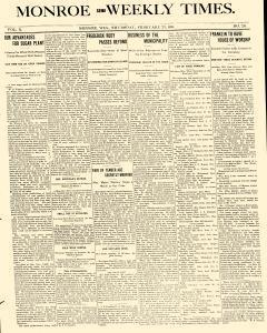 Monroe Semi Weekly Times, February 23, 1899, Page 1