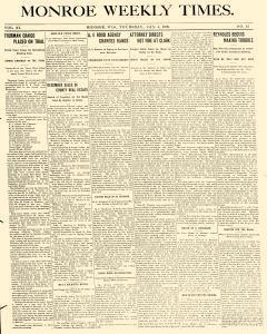 Monroe Weekly Times, January 04, 1899, Page 1