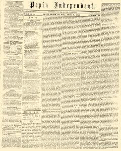 Pepin Independent, June 03, 1859, Page 1