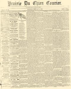 Prairie Du Chien Courier, February 06, 1862, Page 1