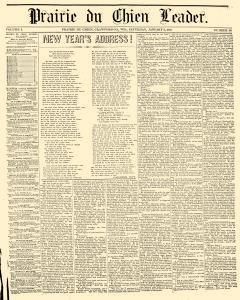 Prairie Du Chien Leader, January 02, 1858, Page 1