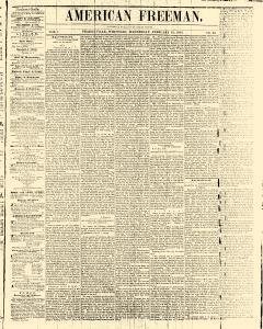 American Freeman Prairieville Wisconsin, February 12, 1845, Page 1