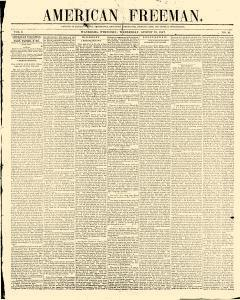 American Freeman, August 18, 1847, Page 1