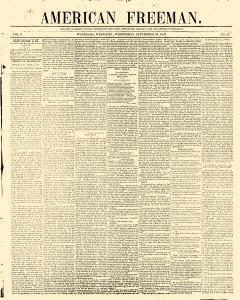 American Freeman, September 29, 1847, Page 1