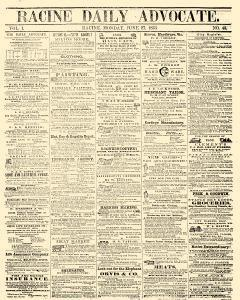 Racine Daily Advocate, June 27, 1853, Page 1