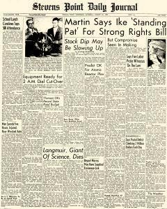 Stevens Point Daily Journal, August 17, 1957, Page 1
