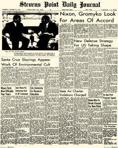 Stevens Point Daily Journal, October 22, 1970, Page 1