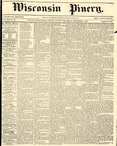 Wisconsin Pinery, September 07, 1860, Page 1