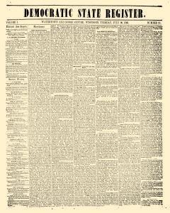 Democratic State Register, July 30, 1850, Page 1