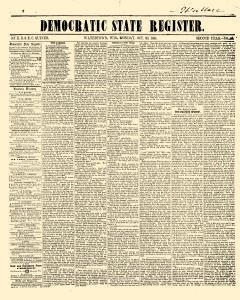 Democratic State Register, October 20, 1851, Page 1