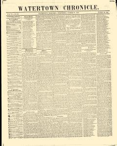Watertown Chronicle, October 27, 1852, Page 1