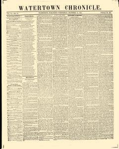 Watertown Chronicle, December 15, 1852, Page 1