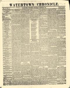 Watertown Chronicle, March 23, 1853, Page 1